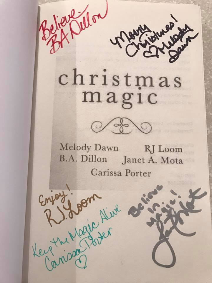 signed copy of Christmas Magic